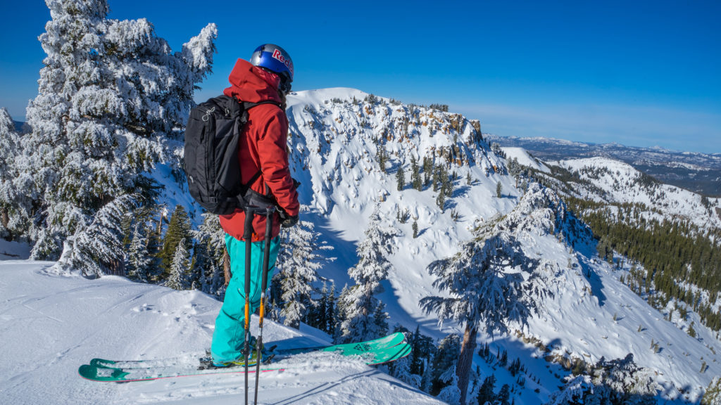 Michelle Parker on a backcountry tour with Alpenglow Expeditions